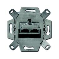 0217-102-507 - Механизм 2-постовой компьютерной розетки 8/8 полюсов, раздельно, RJ45; UAE, категория 6e, экранированная, до 250 МГц