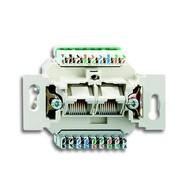 2CKA000230A0470 - Механизм 2-постовой компьютерной/телефонной розетки UAE, 8/8 полюсов, раздельно, RJ45, категория 6е, неэкранированная, до 250 МГц