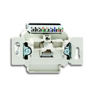 2CKA000230A0469 - Механизм 1-постовой компьютерной/телефонной розетки UAE, 8 полюсов, RJ45, категория 6е, неэкранированная, до 250 МГц