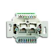 2CKA000230A0400 - Механизм 2-постовой компьютерной/телефонной розетки UAE, 8/8 полюсов, раздельно, RJ45, категория 6е, неэкранированная, до 250 МГц