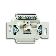 2CKA000230A0399 - Механизм 1-постовой компьютерной/телефонной розетки UAE, 8 полюсов, RJ45, категория 6е, неэкранированная, до 250 МГц