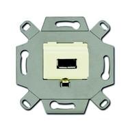 2CKA000230A0418 - Механизм USB-розетки/разъёма, USB-type A, USB2.0, 5 полюсов, цвет слоновая кость