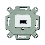 2CKA000230A0419 - Механизм USB-розетки/разъёма, USB-type A, USB2.0, 5 полюсов, цвет альпийский белый