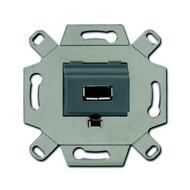 2CKA000230A0420 - Механизм USB-розетки/разъёма, USB-type A, USB2.0, 5 полюсов, цвет серый