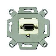 2CKA000230A0424 - Механизм VGA-розетки/разъёма, D-type, Full HD, 15 полюсов, цвет слоновая кость