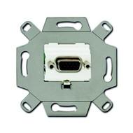 2CKA000230A0425 - Механизм VGA-розетки/разъёма, D-type, Full HD, 15 полюсов, цвет альпийский белый