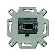 2CKA000230A0426 - Механизм VGA-розетки/разъёма, D-type, Full HD, 15 полюсов, цвет серый