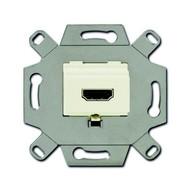 2CKA000230A0430 - Механизм HDMI-розетки/разъёма, HDMI-type A, Full HD, 20 полюсов, цвет слоновая кость