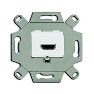 2CKA000230A0431 - Механизм HDMI-розетки/разъёма, HDMI-type A, Full HD, 20 полюсов, цвет альпийский белый