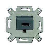 2CKA000230A0432 - Механизм HDMI-розетки/разъёма, HDMI-type A, Full HD, 20 полюсов, цвет серый