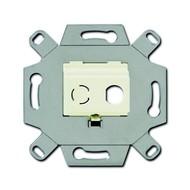 2CKA000230A0436 - Адаптор/суппорт для ТВ-разъёмов тип F, BNC-F, цвет слоновая кость