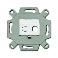2CKA000230A0437 - Адаптор/суппорт для ТВ-разъёмов тип F, BNC-F, цвет альпийский белый