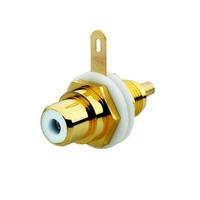 2CKA000230A0451 - Разъём RCA/CINCH (колокольчик/тюльпан), диапазон от 20 Гц до 20 кГц, цвет белый