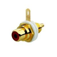 2CKA000230A0453 - Разъём RCA/CINCH (колокольчик/тюльпан), диапазон от 20 Гц до 20 кГц, цвет красный
