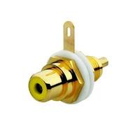 2CKA000230A0454 - Разъём RCA/CINCH (колокольчик/тюльпан), диапазон от 20 Гц до 20 кГц, цвет жёлтый