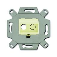 2CKA000230A0444 - Адаптор/суппорт для RCA-разъёмов (колокольчик/тюльпан), цвет слоновая кость