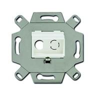 2CKA000230A0445 - Адаптор/суппорт для RCA-разъёмов (колокольчик/тюльпан), цвет альпийский белый