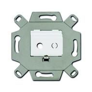2CKA000230A0459 - Адаптор/суппорт для TRS-разъёмов, mini-jack 3.5 мм, аудио, цвет альпийский белый