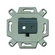 2CKA000230A0460 - Адаптор/суппорт для TRS-разъёмов, mini-jack 3.5 мм, аудио, цвет серый