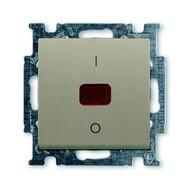 2CKA001020A0091 - Механизм 1-клавишного, 2-полюсного выключателя, с клавишей, с линзой, с неоновой лампой, с маркировкой I/O, 20 А / 250 В, серия Basi 55, цвет шампань