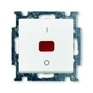 2CKA001020A0089 - Выключатель с клавишей, 2-полюсный, 20 А, Basic 55, альпийский белый