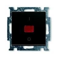 2CKA001020A0092 - Механизм 1-клавишного, 2-полюсного выключателя, с клавишей, с линзой, с неоновой лампой, с маркировкой I/O, 20 А / 250 В, серия Basi 55, цвет chateau-black