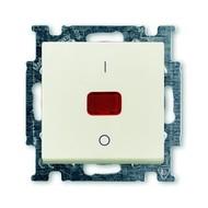 2CKA001020A0093 - Механизм 1-клавишного, 2-полюсного выключателя, с клавишей, с линзой, с неоновой лампой, с маркировкой I/O, 20 А / 250 В, серия Basi 55, цвет chalet-white