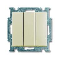 2CKA001012A2158 - Выключатель с клавишей, 3-клавишный, 16 A, Basic 55, слоновая кость