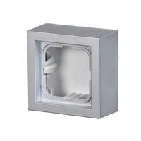 2TKA00001618 - Коробка для накладного монтажа, Impressivo, алюминий