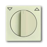 2CKA001710A3154 - Плата центральная с поворотной ручкой, с маркировкой, для механизма выключателя жалюзи 2712/2713 U и 2722/2723 U, серия solo/future, цвет savanne/слоновая кость