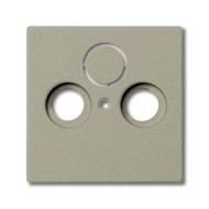 2CKA001724A4311 - Плата центральная (накладка) для ТВ-розеток, серия Basic 55, цвет шампань
