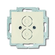 2CKA001710A3148 - Плата центральная с суппортом для разъёмов BNC и TNC, серия solo/future, цвет savanne/слоновая кость