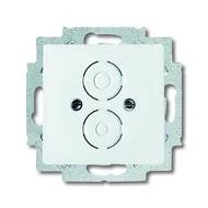 2CKA001710A3166 - Плата центральная с суппортом для разъёмов BNC и TNC, серия solo/future, цвет davos/альпийский белый