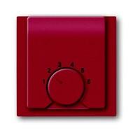 2CKA001710A3816 - Плата центральная (накладка) для механизма терморегулятора (термостата) 1094 U, 1097 U, серия impuls, цвет бордо/ежевика