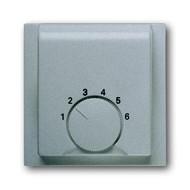 2CKA001710A3744 - Плата центральная (накладка) для механизма терморегулятора (термостата) 1094 U, 1097 U, серия impuls, цвет серебристый металлик