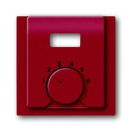2CKA001710A3818 - Плата центральная (накладка) для механизма терморегулятора (термостата) 1094 UTA, 1097 UTA, серия impuls, цвет бордо/ежевика