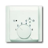 2CKA001710A3924 - Плата центральная (накладка) для механизма терморегулятора (термостата) 1095 U, 1096 U, серия impuls, цвет белый бархат