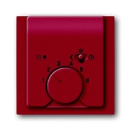 2CKA001710A3817 - Плата центральная (накладка) для механизма терморегулятора (термостата) 1095 U, 1096 U, серия impuls, цвет бордо/ежевика