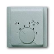 2CKA001710A3747 - Плата центральная (накладка) для механизма терморегулятора (термостата) 1095 U, 1096 U, серия impuls, цвет серебристый металлик