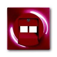 2CKA001753A0129 - Плата центральная (накладка) для 2-постовой телекоммуникационной розетки 0214, 0215, 0217, 0218, с полем для надписи, серия impuls, цвет бордо/ежевика