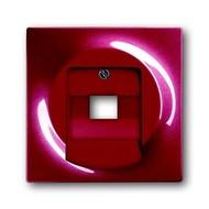 2CKA001753A0130 - Плата центральная (накладка) для 1-постовой телекоммуникационной розетки 0213, 0216, с полем для надписи, серия impuls, цвет бордо/ежевика