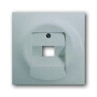 2CKA001753A0087 - Плата центральная (накладка) для 1-постовой телекоммуникационной розетки 0213, 0216, с полем для надписи, серия impuls, цвет серебристый металлик