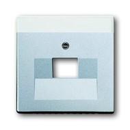 2CKA001710A3674 - Плата центральная (накладка) для 1-постовой телекоммуникационной розетки 0213, 0216, с полем для надписи, серия solo/future, цвет серебристо-алюминиевый