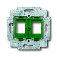 2CKA001753A9974 - Суппорт для 2-х неэкранированных R&M разъёмов фирмы AVAYA (AT&T / Lucent technologies), Giga Speed, PowerSUM, MGS 300 BH-xx, с зелёным цоколем, без распорок