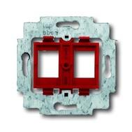 2CKA001753A9972 - Суппорт для 2-х неэкранированных LWL разъёмов фирм AMP / tyco Electronics, BTR, KRONE, RADIALL, Setec, с красным цоколем, без распорок
