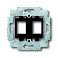 2CKA001753A9973 - Суппорт для 2-х экранированных LWL разъёмов фирмы Ackermann, AMP / tyco Electronics (серии SlimLine), Brand-Rex, с чёрным цоколем, без распорок