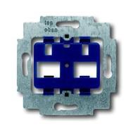 2CKA001710A3100 - Суппорт для 2-х разъёмов фирмы ITT-Cannon RJ45 кат.5, typ 808 RJ45 Mark III, с синим цоколем, без распорок
