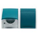 2CKA001582A0305 - Корпус светового сигнала для ламп с цоколем Е-10, для открытой установки, IP44, серия ocean, цвет серый/сине-зелёный