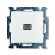 2CKA001012A2153 - Выключатель с клавишей, 1-клавишный, с подсветкой, Basic 55, альпийский белый