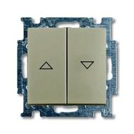 2CKA001012A2166 - Механизм 2-клавишного, 1-полюсного выключателя жалюзи с фиксацией с клавишей, серия Basic 55, цвет шампань